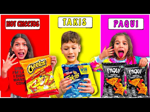 LAST TO STOP EATING SPICY CHIPS WINS MYSTERY PRIZE **Kids Went Crazy** Part 3 | Familia Diamond