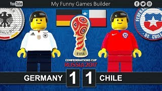 Brick film reconstruction of the FIFA Confederations Cup Russia 2017 between Germany and ChileFIFA Confederations Cup Russia 2017 / First stage - Group AGermany vs Chile 1-1- Sanchez 6' - Stindl 41'Kazan ArenaKazan (RUS)22 June 2017-----------------------------------------------------------------------------------------------------Top Link Competitions:- Champions League • https://www.youtube.com/playlist?list=PLDgxLNKesJl59dj09mFzcegFIPp6WuZzr - Serie A • https://www.youtube.com/playlist?list=PLDgxLNKesJl4TjpWj4a2DVmglqt4p6fUu - LaLiga • https://www.youtube.com/playlist?list=PLDgxLNKesJl59dj09mFzcegFIPp6WuZzr - Premier League • https://www.youtube.com/playlist?list=PLDgxLNKesJl7i36gCR5CicjPy_wRCDYuO - FIFA World Cup • https://www.youtube.com/playlist?list=PLDgxLNKesJl6D9GsBdjq3lngqH-AYc8EvTop Link Club:- Real Madrid CF • https://www.youtube.com/playlist?list=PLDgxLNKesJl56wTYUI1DoIGPoQHYzI9vk - FC Barcelona • https://www.youtube.com/playlist?list=PLDgxLNKesJl495fjfDEcLABBuWTAhB5L1 - Chelsea • https://www.youtube.com/playlist?list=PLDgxLNKesJl7bYGLGK3YuzDiq_2_nAPEA - Manchester United • https://www.youtube.com/playlist?list=PLDgxLNKesJl6HKGMfEMxhRpAHfJMeNDom- Juventus FC • https://www.youtube.com/playlist?list=PLDgxLNKesJl7_LsTYvAWQMlpIA6rJ32Hm - AC Milan • https://www.youtube.com/playlist?list=PLDgxLNKesJl5lOf_KfRfmP0Cciwhpr4cR - FC Inter • https://www.youtube.com/playlist?list=PLDgxLNKesJl6ccUhR3yipMwKRh44WQR10 - SSC Napoli • https://www.youtube.com/playlist?list=PLDgxLNKesJl6hHHfUC1qhA_mxbIf8h-eQ - AS Roma • https://www.youtube.com/playlist?list=PLDgxLNKesJl4q9am3RuaTzjKa3TJHgEHo Top Link Finals: https://www.youtube.com/playlist?list=PLDgxLNKesJl4RZ4B0njyFrWB9Ayb7-EYF-----------------------------------------------------------------------------------------------------LEGO® is a trademark of the LEGO Group of companies which does not sponsor, authorize or endorse this channel.