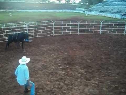 hudson marques vs touro cafu (montarias em touros no pite club rodeio )