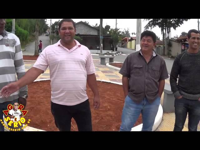 Prefeito Fernandão e Vereadores de São Lourenço da Serra entrega a Praça Ana Pinto de Borba