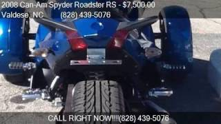 9. 2008 Can-Am Spyder Roadster RS  for sale in Valdese, NC 2869