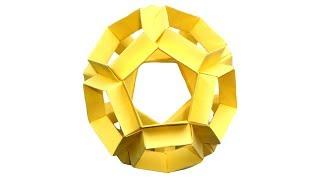Многогранник додекаэдр из бумаги оригами