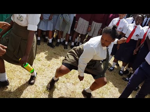 Schools all over Kenya do the Kanyaga Lami challenge SKIZA CODE SMS ( SKIZA 7300726 ) to 811