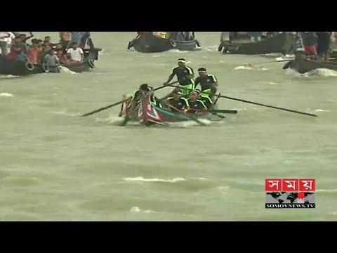 কর্ণফুলী নদী দূষণমুক্ত রাখার দাবিতে সাম্পান বাইচ প্রতিযোগিতা   Boat Race in BD   Somoy TV