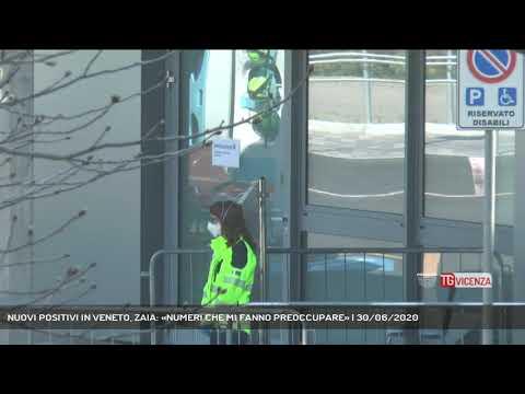 NUOVI POSITIVI IN VENETO, ZAIA: «NUMERI CHE MI FANNO PREOCCUPARE» | 30/06/2020