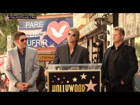 Rascal Flatts Walk of Fame Ceremony