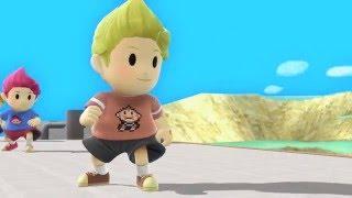 SSB4 Texture Showcase (Lucas, Ness, Pikachu, Yoshi, Luma, Villager)