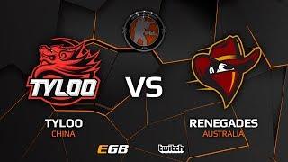 TyLoo vs Renegades, map 1 mirage, Asia Minor – PGL Major Krakow 2017
