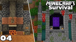 Let's Play Minecraft Survival : Jungle Temple NETHER PORTAL! Episode 4