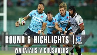 Waratahs v Crusaders Rd.6 2019 Super rugby video highlights | Super Rugby Video Highlights