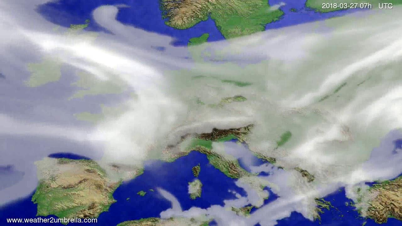 Cloud forecast Europe 2018-03-23