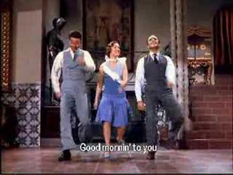 Godmorning - Singing in the Rain 1952 They sing ' Good morning ! '