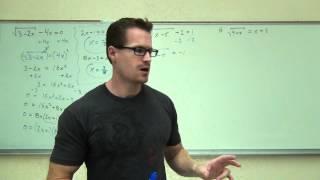 Intermediate Algebra Lecture 10.6