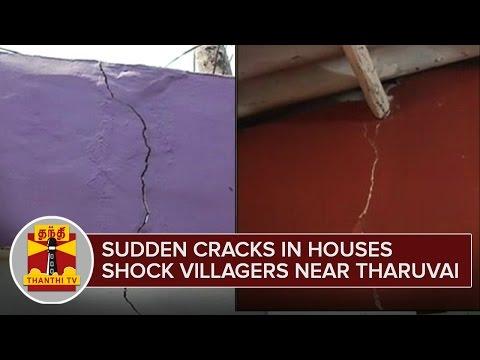 Sudden-Cracks-in-Houses-shock-Villagers-near-Tharuvai--Thanthi-TV
