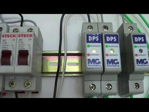 Como ligar um Dispositivo de Proteção contra Surtos (DPS).