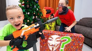 Video Don't Grab WRONG Mystery NERF Present !!! Who sent so many MYSTERY presents to us ??? MP3, 3GP, MP4, WEBM, AVI, FLV Juni 2019
