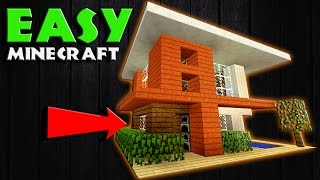 Minecraft How to Build a Realistic Modern House / Small Modern House Tutorial | CUTE, EASY, COMPACT