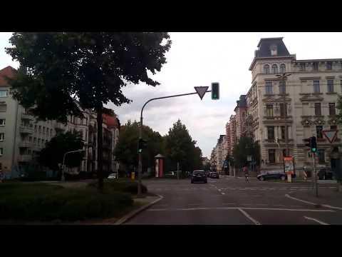 Leipzig - Fahrt durch den Stadteil Connewitz - 30. Ju ...