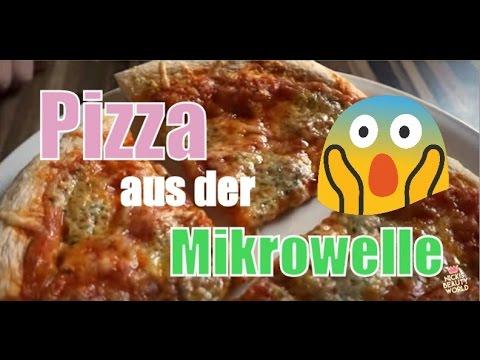 Pizza aus der Mikrowelle TK und frische Bauknecht mit Crisp Funktion Testbericht