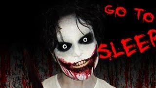 Video Jeff the Killer - Creepy Pasta - Makeup Tutorial! - GO TO SLEEP MP3, 3GP, MP4, WEBM, AVI, FLV November 2017