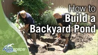 How To Build a Backyard Pond