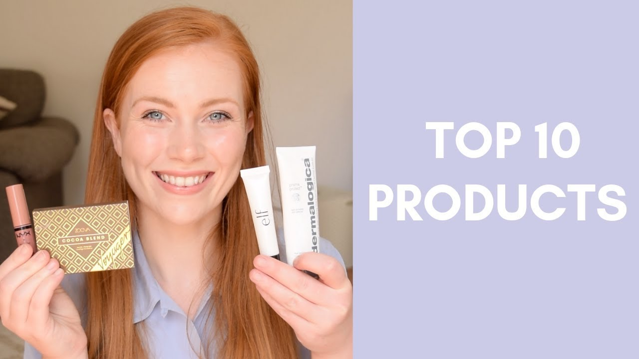 Top 10 Makeup and Skincare Products for Redheads | Simply Redhead