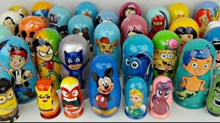LOTS OF NESTING DOLLS with PJ Masks, Paw Patrol, Bubble Guppies, Mickey & Frozen