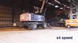 Terex Fuchs MHL360 Material Handler for Rail Freight Services