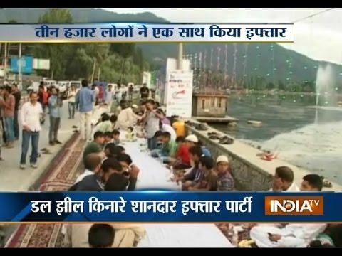 Asia's longest iftar held at the banks of Dal Lake in Srinagar