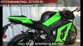8. 2013 Kawasaki Ninja ZX -10R for sale in Farm and Heavy Equip
