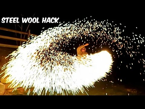 Spinning Burning Steel Wool Around Looks Like Being Inside