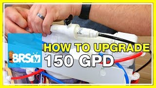 How to Install a 150 GPD Water Saver Upgrade Kit on your RO/DI System - BRStv How-To
