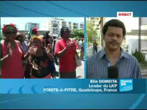 Guadeloupe: réaction d'E. Domota, leader de LKP