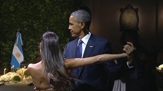 Download Lagu Pres. Obama does the tango at Argentina state dinner Mp3
