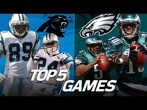 Video: Top 5 Eagles vs. Panthers Games All-Time | NFL Highlights