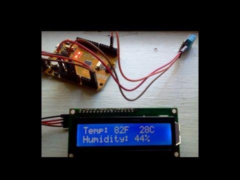 DHT Temp Humidity Sensor LCD I2C Arduino