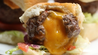 Cheese-Stuffed Burger Bombs by Tasty