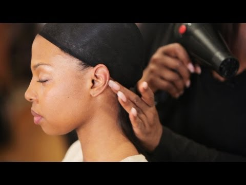 How to Glue in Hair Tracks for Weave | Black Hairstyles
