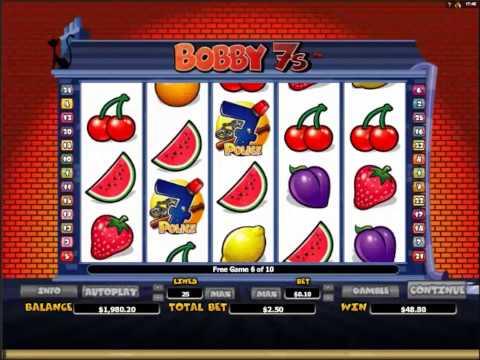 Bobby 7s Slots Bonus Big Win and 10 Free Spins
