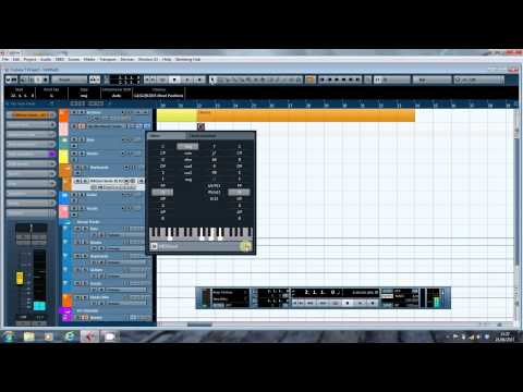 Sketching a song in Cubase using the Chord Track