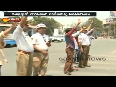Hyderabad Traffic Police Special Punishment to Drunk Drivers - Watch Exclusive (видео)