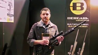 BPI Outdoors Vice President of Sales Ben Fleming shows off the new Bergara Premier Series LRP rifle at the 2016 SHOT Show. For more information, please visit...