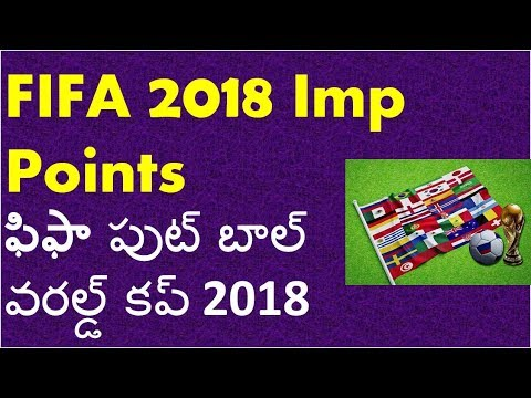 Fifa World Cup 2018 Imp Points In Telugu | Awards Golden Boot, Ball, Glove