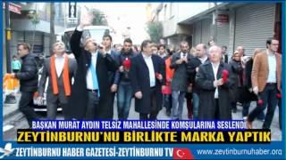 Başkan Murat Aydın Telsiz Mahalesinde Komşularına Seslendi