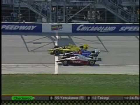 Closest Indy Car 1-2-3 finish ever - Chicagoland 2003