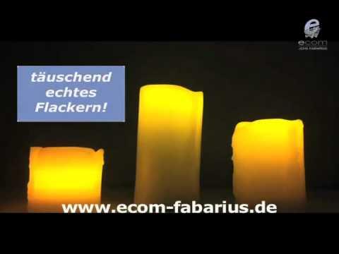 LED Kerze Echtwachskerze Lampe Stumpenkerze Deko Licht Ledlampe Leuchte Licht