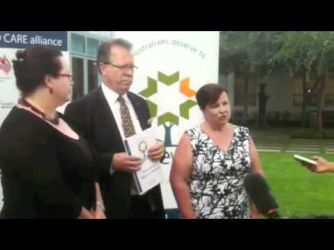 Lee Thomas - Aged Care Press Conference