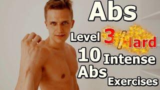 ABS Level 3 / Hard / 10 Intense Abs Exercises / DRAGON FLAG!