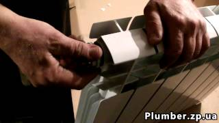 Как установить алюминиевый или биметаллический радиатор отопления