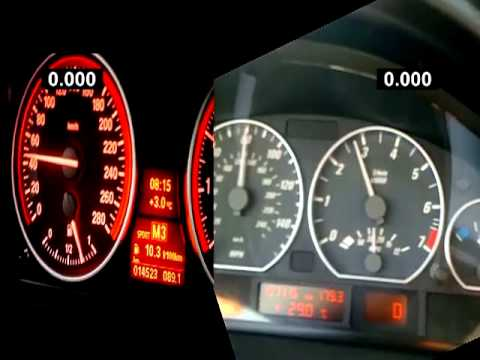 My E46 Tuned 330ci VS 335i Stock (306PS) 100-200Km/h Roll On